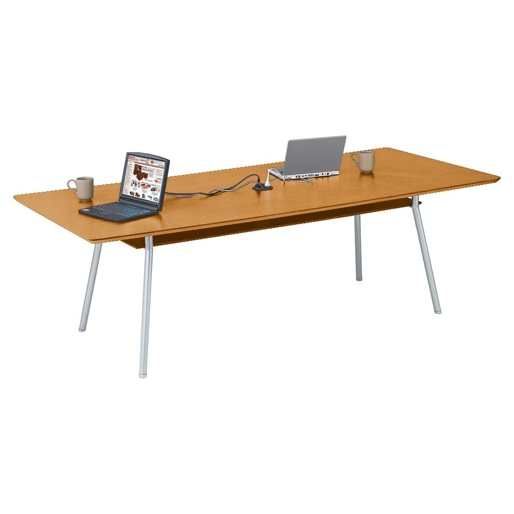 Conference Table With Underside Shelf X Shelves - 36 x 96 conference table
