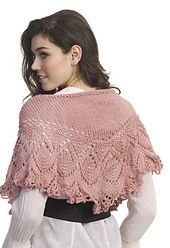 Slip on this exquisite knitted Shoulder Shawl from Lisa Gentry and you will immediately connect with your inner feminine spirit. With its beautiful drape, this lovely design shows off Simply Soft's excellence in lace.