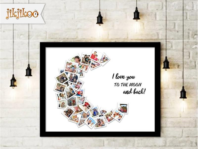 Personalized I Love You To The Moon And Back Photo Collage