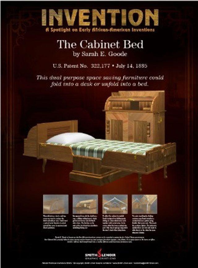 Sarah E. Goode Katlanır yatağı üretti | pioneer women | Pinterest