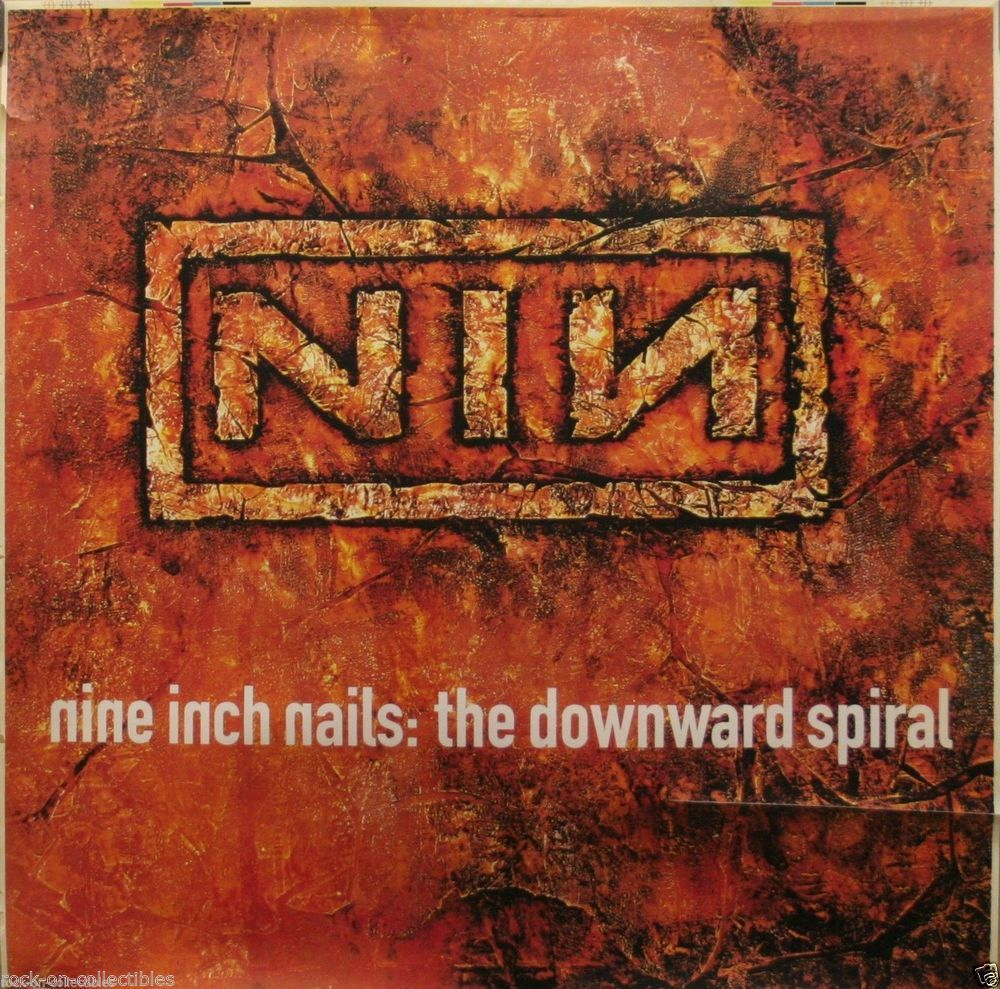 Nine Inch Nails NIN 1994 Downward Spiral Original Light Box Poster ...