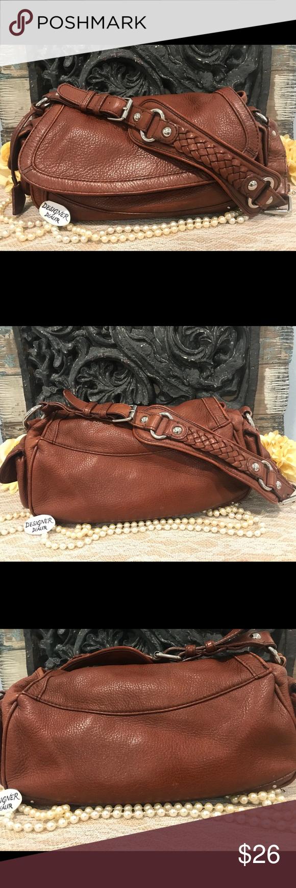 BANANA REPUBLIC Cognac Brown Leather Shoulder Bag Brown
