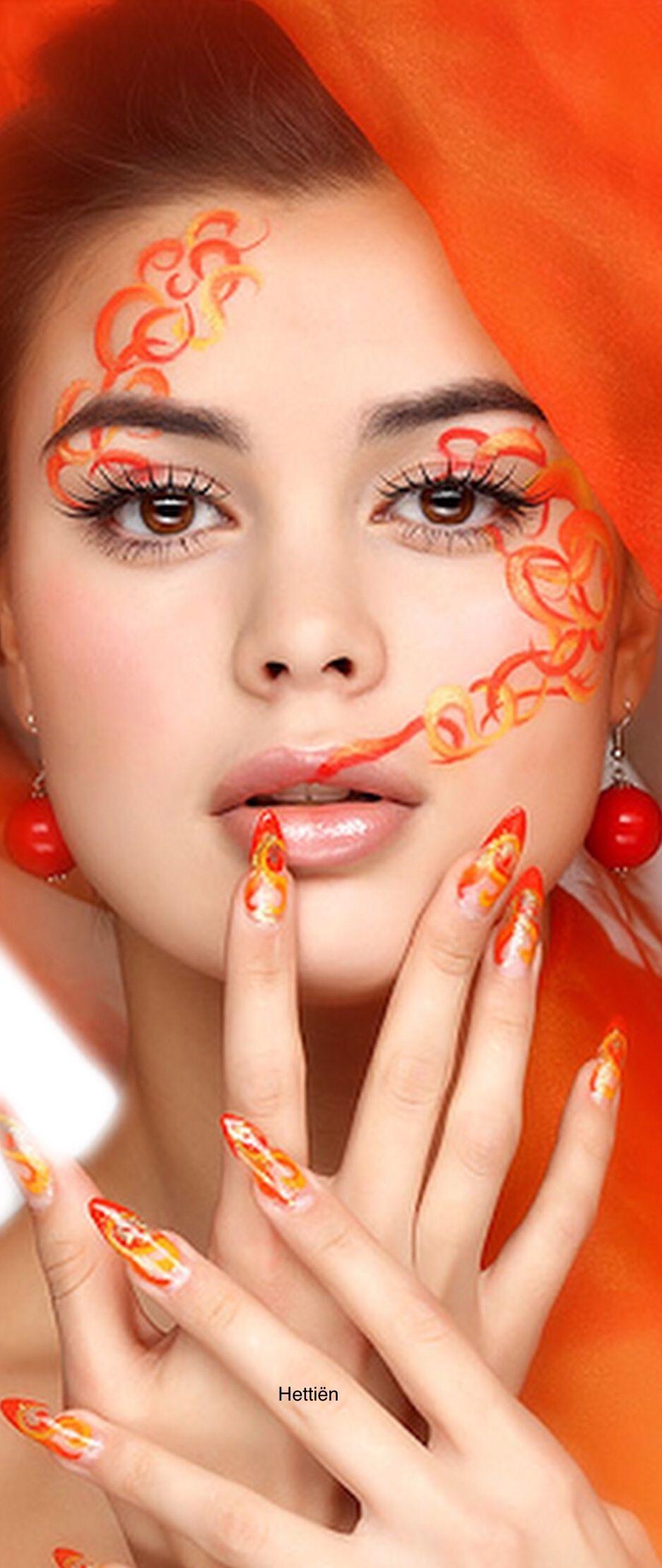 Pin by Hettiën on Makeup Shades of orange, Orange color