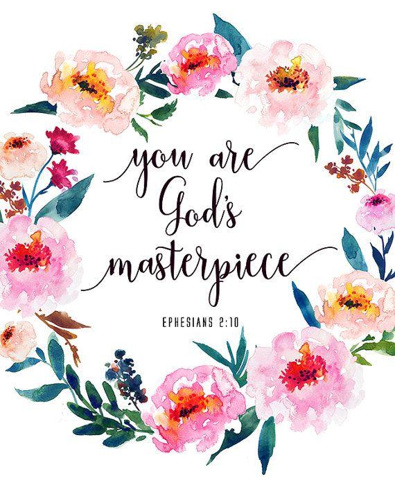 Bible Verse Printable You Are Gods Masterpiece Ephesians 210
