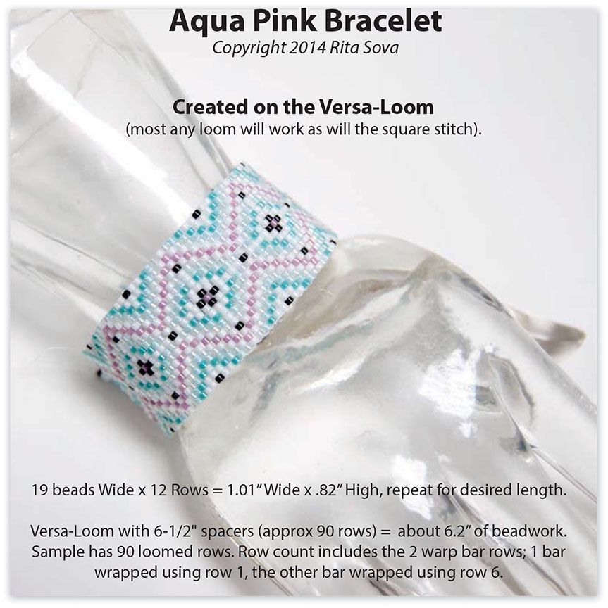 Aqua+Pink+Bracelet+Loom