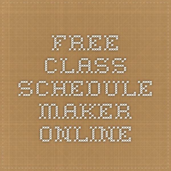 Free Class Schedule Maker Online College Schedule maker, Class