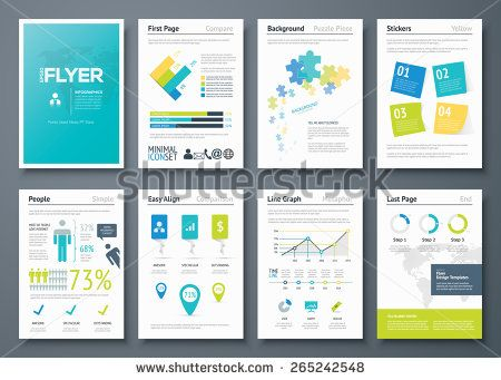 Infographic flyer templates and business vector elements Use in - advertising timeline template