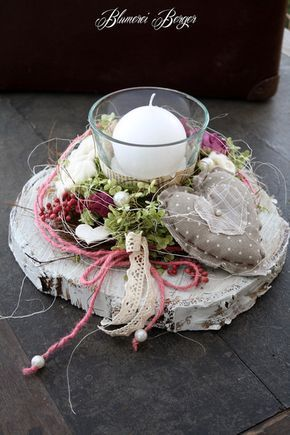Photo of Romantic table decoration with country house charm