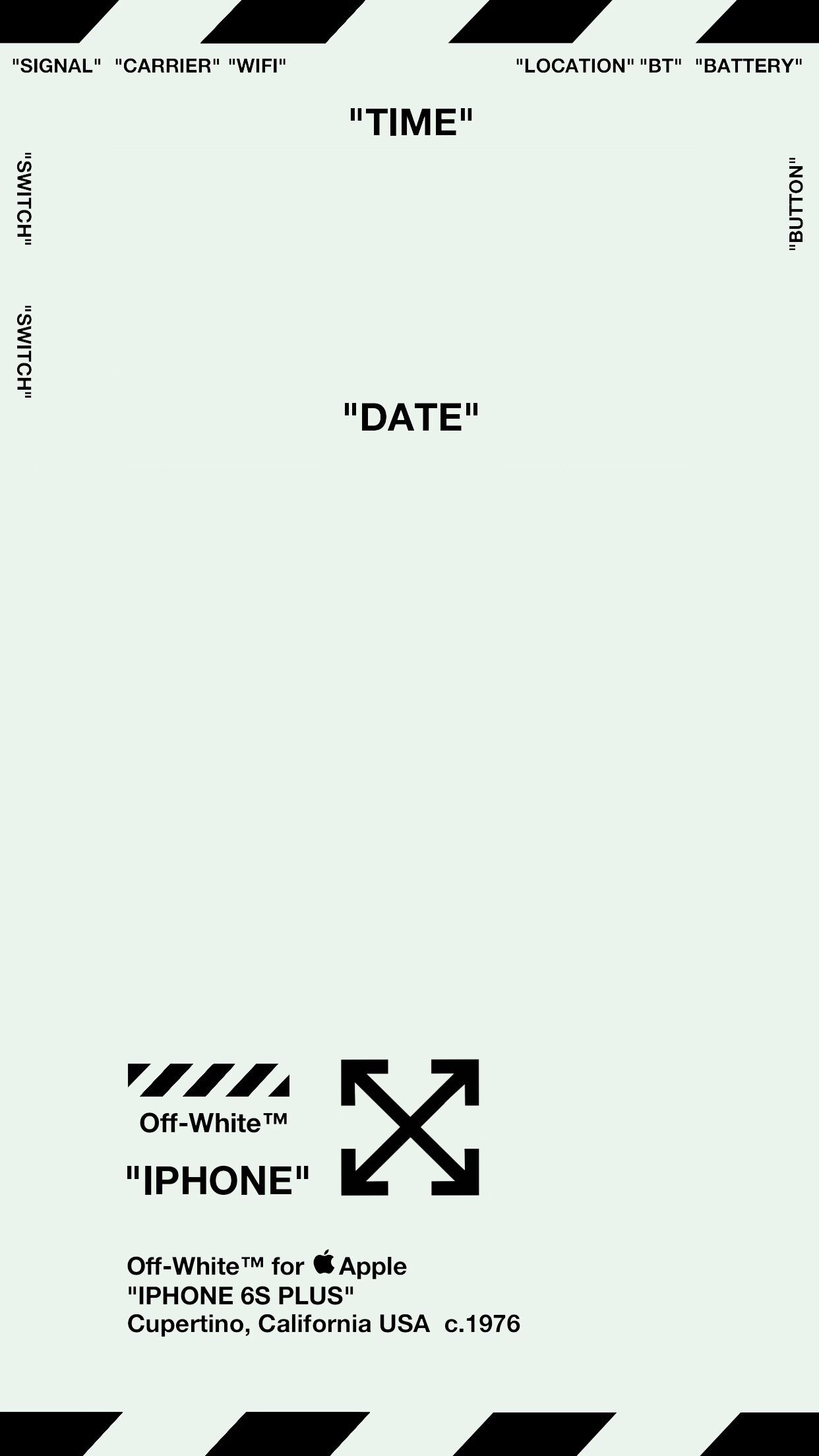 Off White For Apple Iphone 6s Plus Lock Screen Ver 1 Lock Screen Wallpaper Iphone White Wallpaper For Iphone Iphone Wallpaper Off White