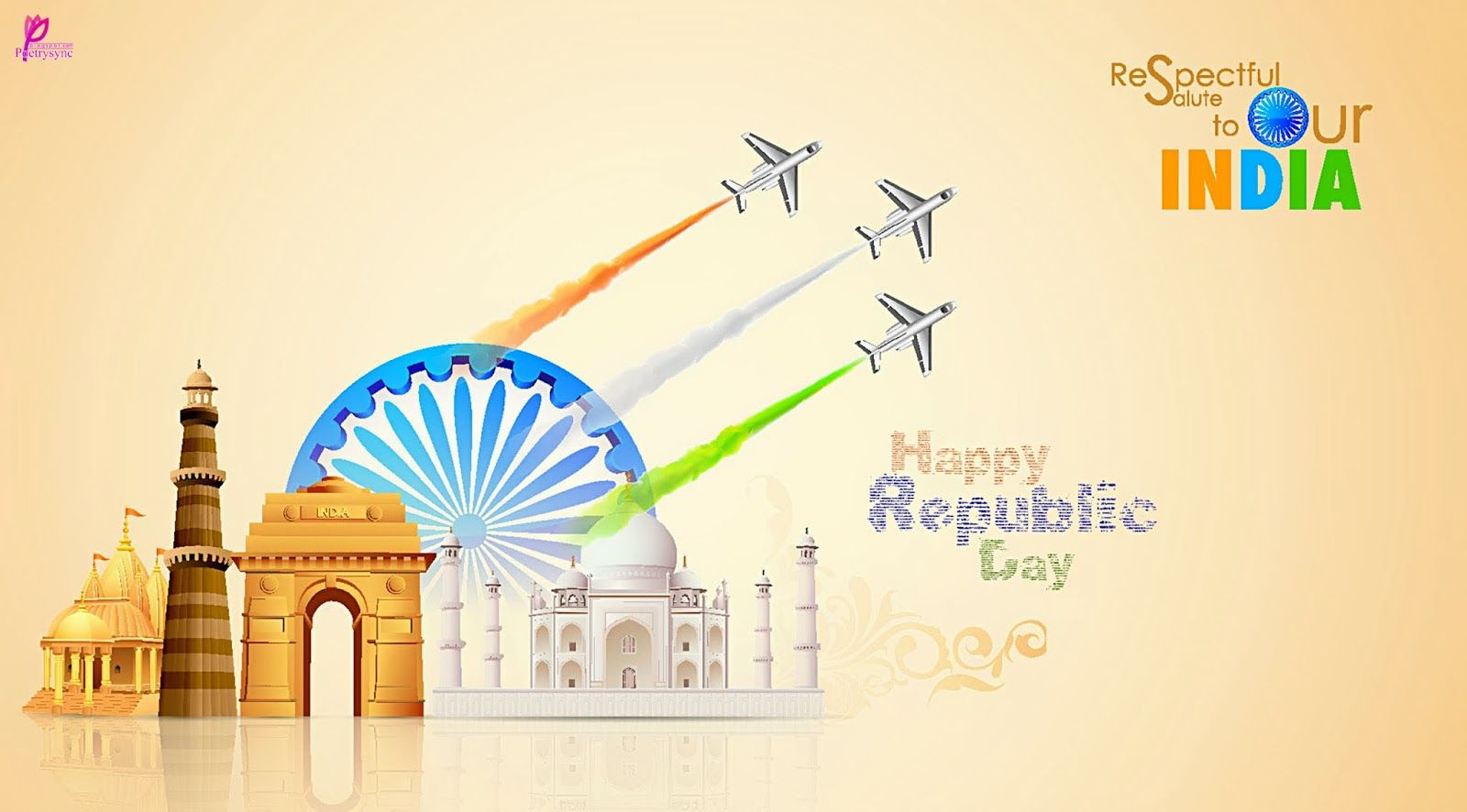 Republic day of india greetings wallpaper 26 january republic day republic day beautiful wallpapers and 26 january hindi sms messages collection m4hsunfo