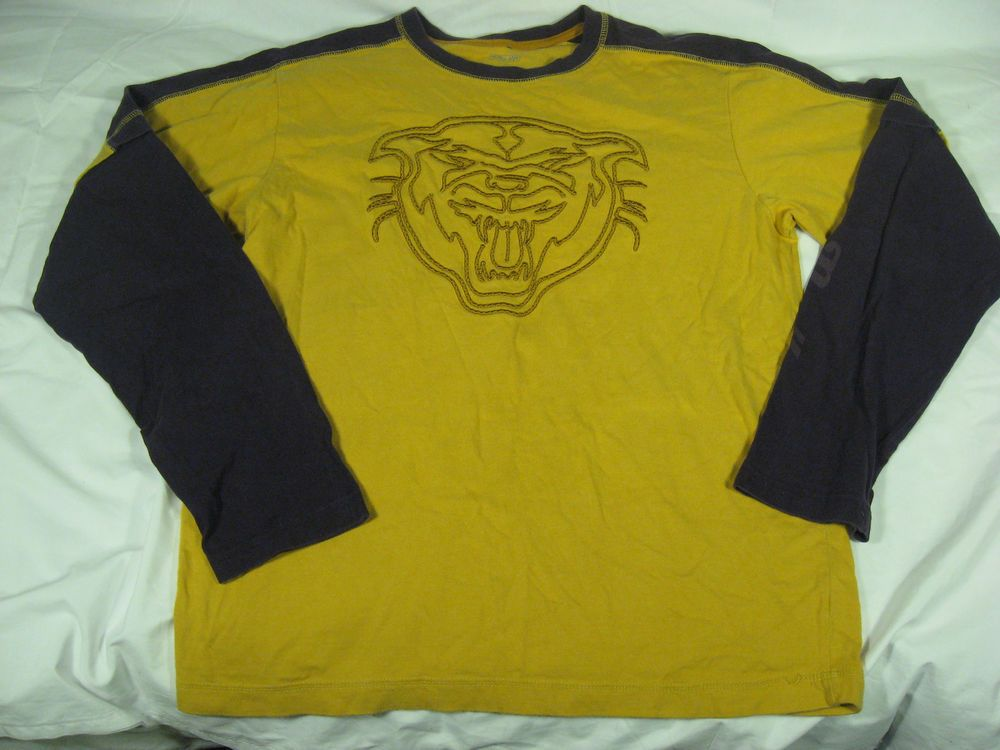 #UrbanPipeline #TShirt #Boys Long Sleeve XL 18/20 Up Panthers #GraphicTee Yellow #BackToSchool #forsale