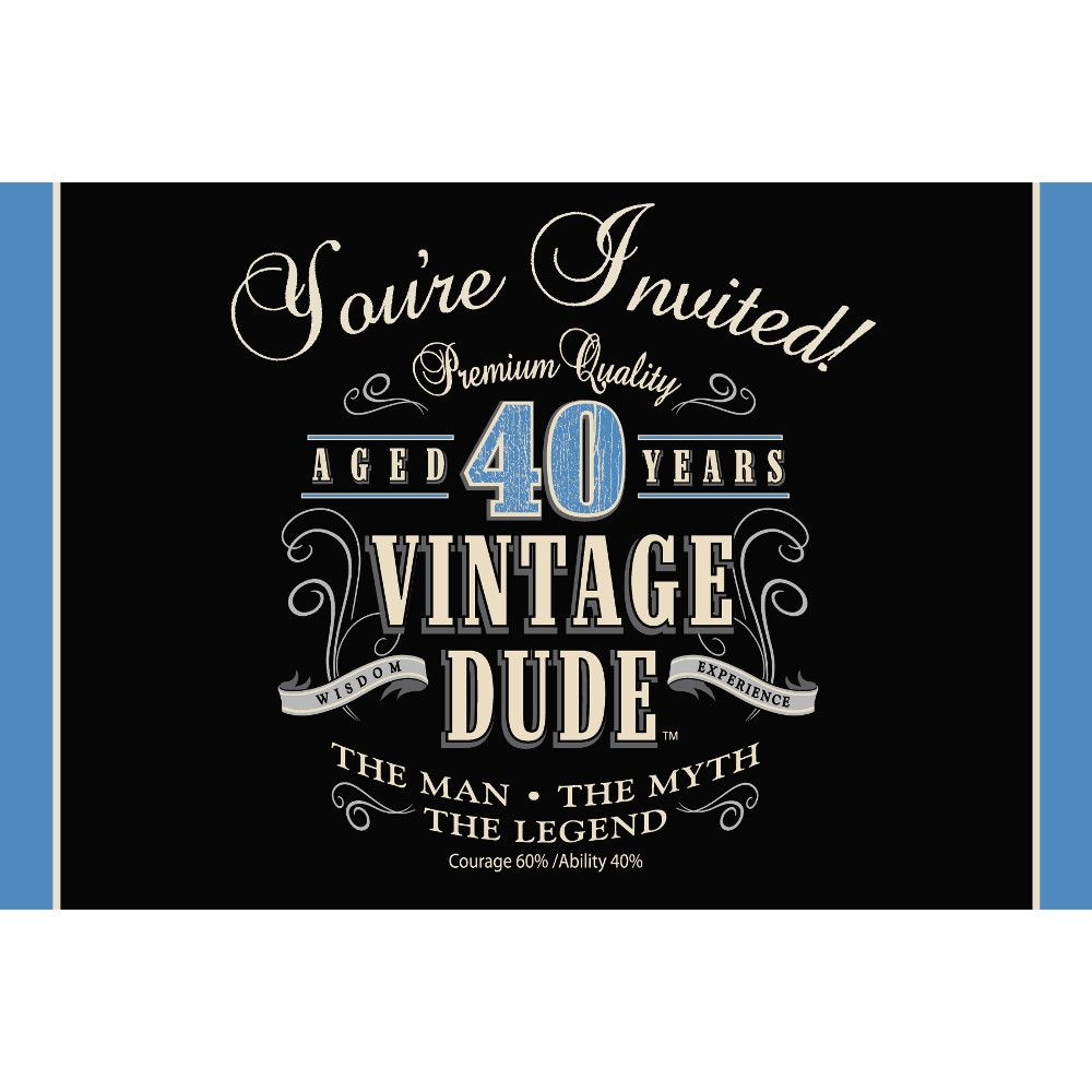 Club pack of 48 vintage dude 40th birthday party gatefold paper club pack of 48 vintage dude 40th birthday party gatefold paper invitations 6 31378748 christmascentral stopboris Images