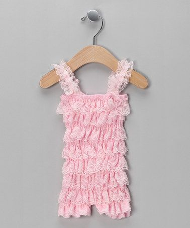 c5392fa5e29c Take a look at this Light Pink Ruffle Romper - Infant   Toddler by Miss  Fancy Pants on  zulily today!