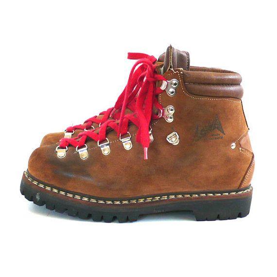 Vintage Lowa Alpine Hiking Boots Size 5 1 2 Mens Hiking Boots Boots Lowa Boots