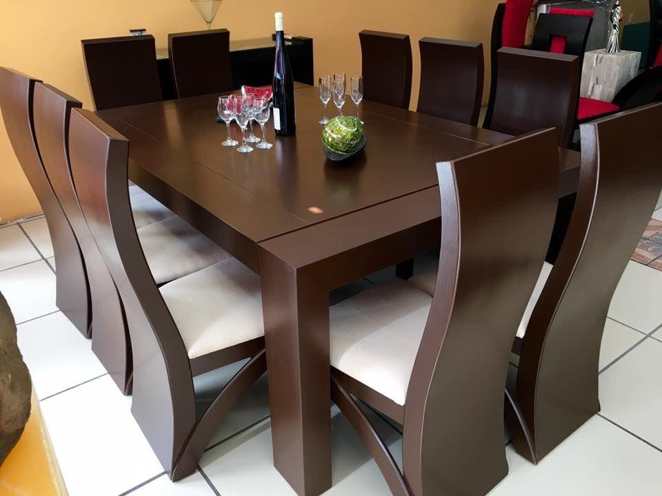 comedor 10 sillas color nogal madera comedores cuatro sillas