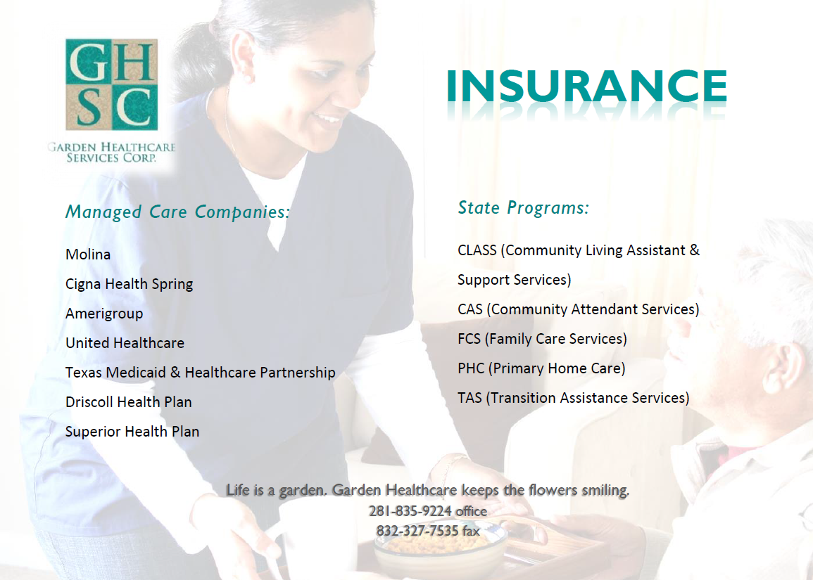 home health insurance for medicaid and other managed care