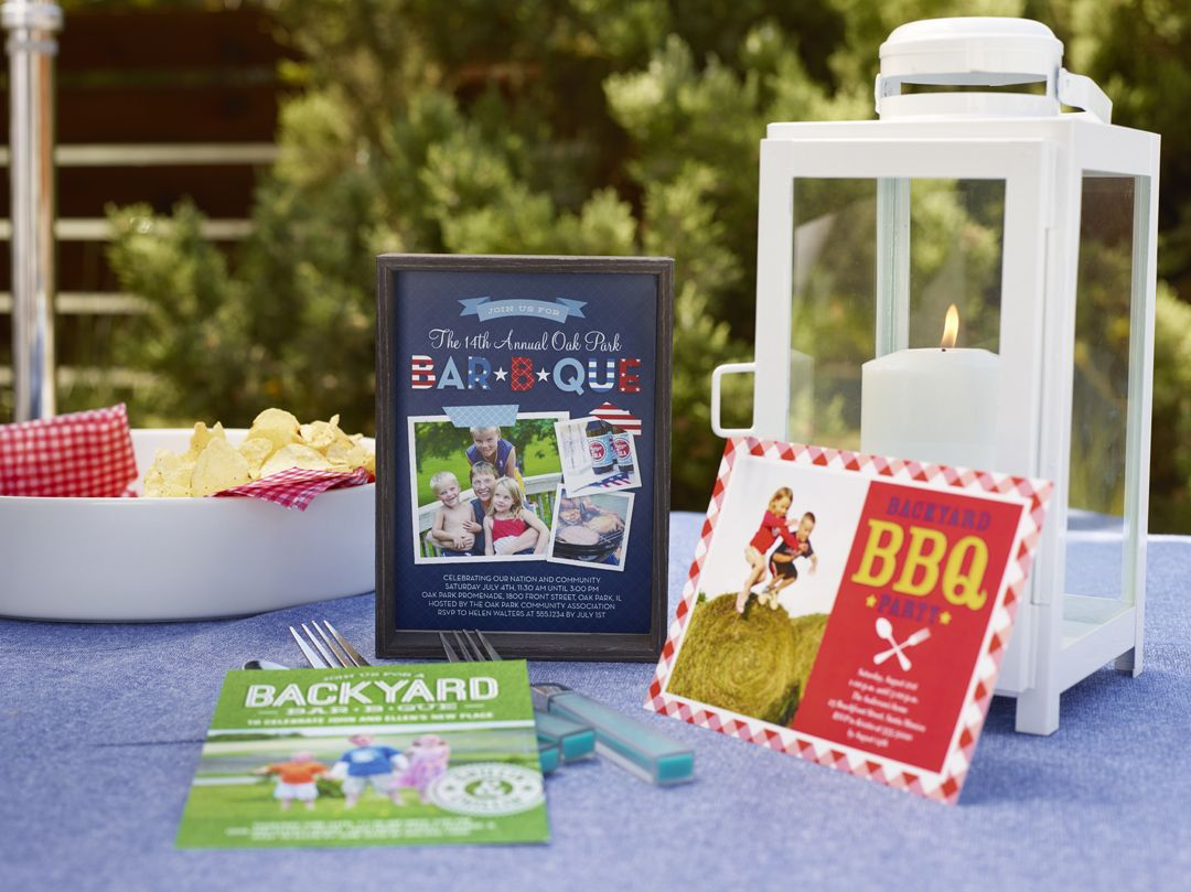 Invite your friends to a backyard barbeque party with
