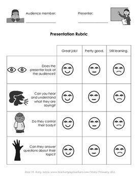 Presentation Peer Speaking Rubric Rubrics Presentation Rubric Presentation