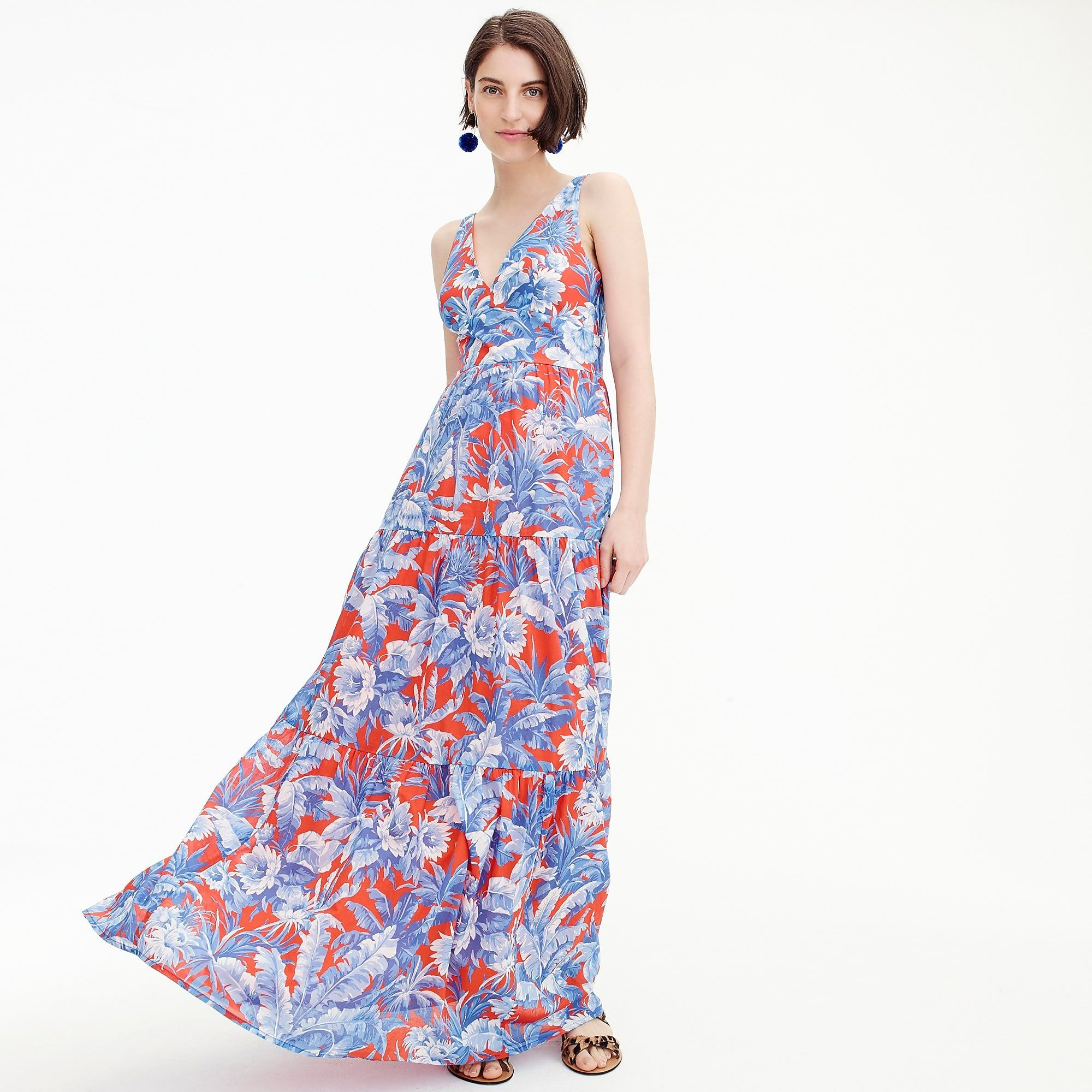 Floral Maxi Dress Great For The Inverted Triangle Body Type Or Rectangle Body Type Maxi Dress Casual Dresses For Women Dresses [ 2000 x 2000 Pixel ]