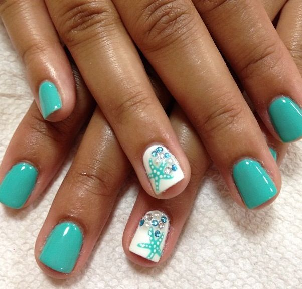 Wedding Nail Ideas For Summer: Beach Nails, Vacation Nails, Summer Toe Nails