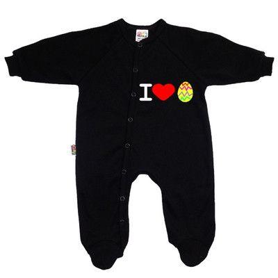 143eab9bc9fd6 Pyjama bébé original de Pâques   I love œuf