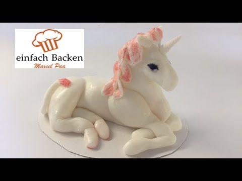 einhorn aus fondant unicorn fondant modelling von. Black Bedroom Furniture Sets. Home Design Ideas