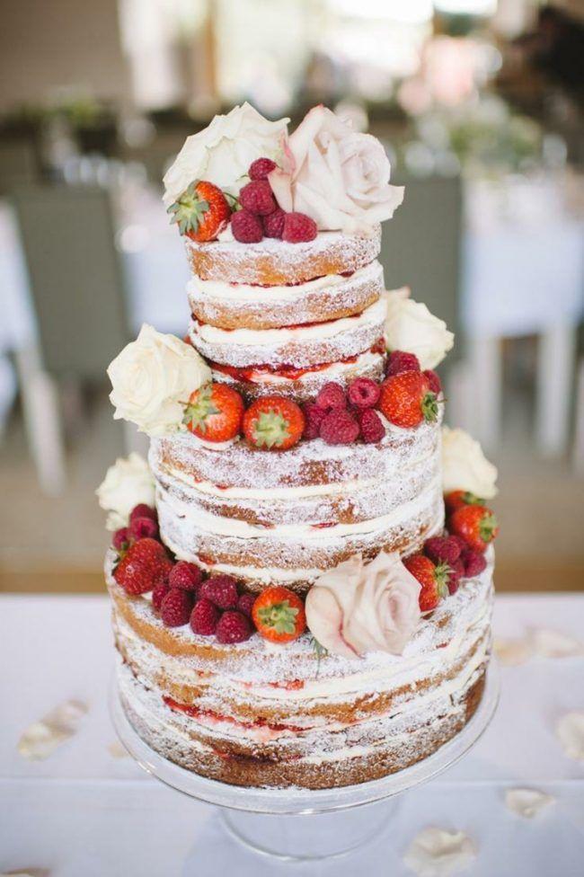 Hochzeitstorte Ohne Fondant Deko Fruchte Erdbeeren Himbeeren