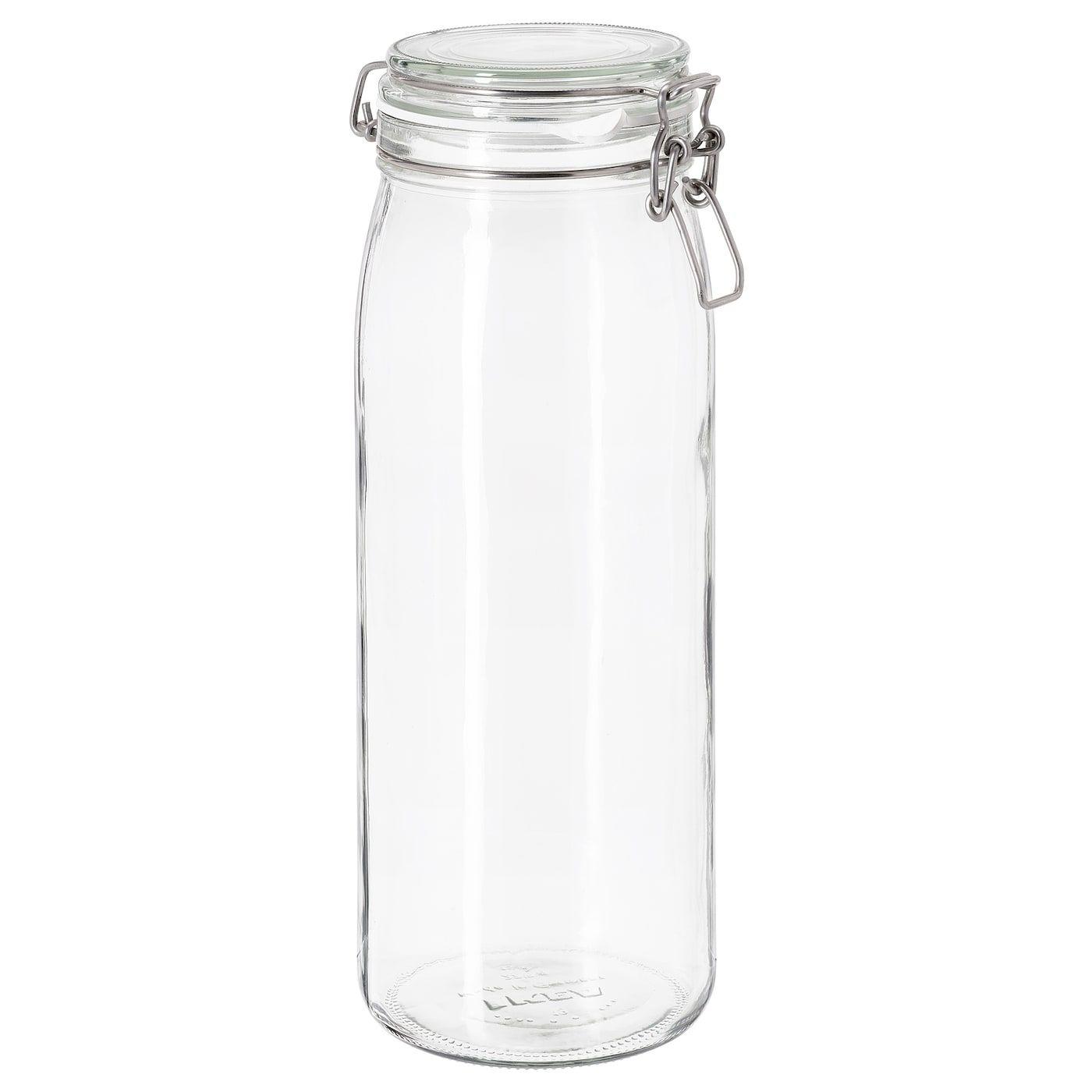 Ikea Korken Clear Glass Jar With Lid In 2020 Food Storage