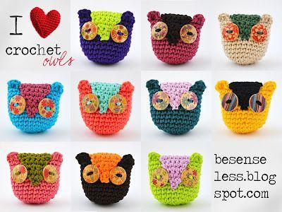crochet owls / gufetti ad uncinetto