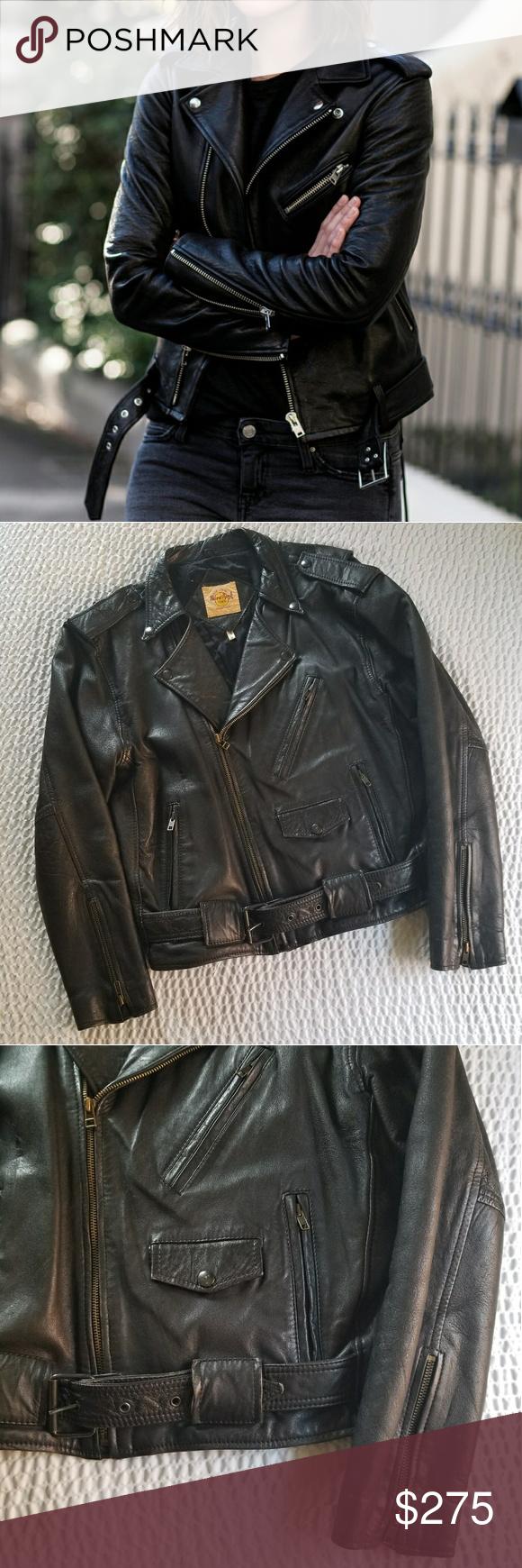 Vintage Leather Biker Jacket Vintage jacket