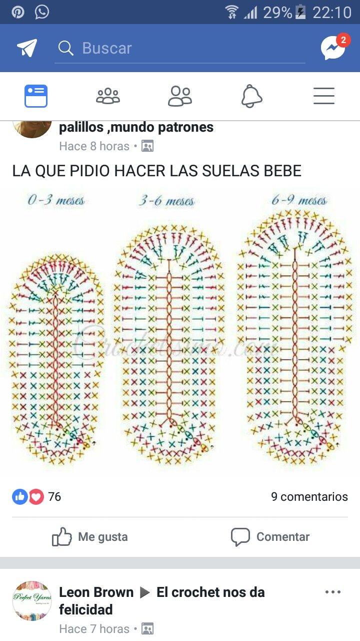 Pin de Francisca Muñoz López en BB zapatos | Pinterest | Tejido ...