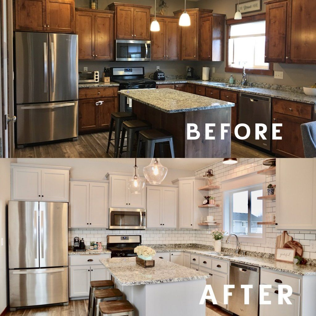 How to Update a Dated Home Without Remodeling - Diy kitchen remodel, Diy kitchen renovation, Kitchen design, Kitchen makeover, Diy kitchen, Kitchen renovation - Would you like to change the look and feel of your home, but you're on a tight budget  Here are 10 ways you can update your dated home without remodeling