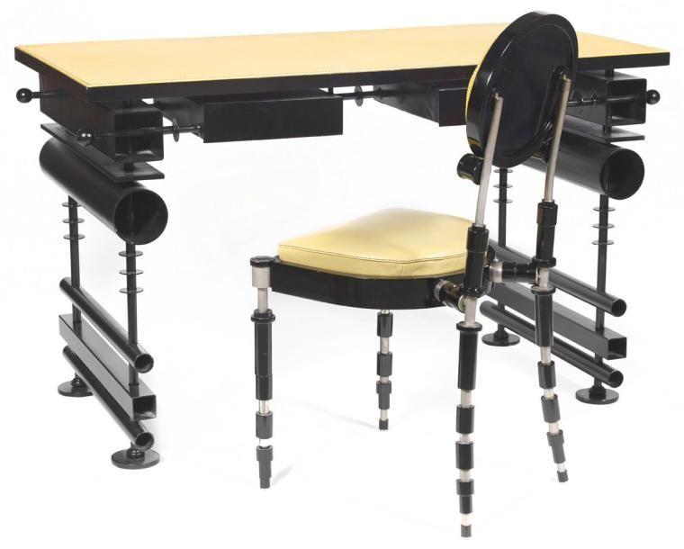 Hubert le gall né en 1961 bureau et sa chaise ensemble piÈce