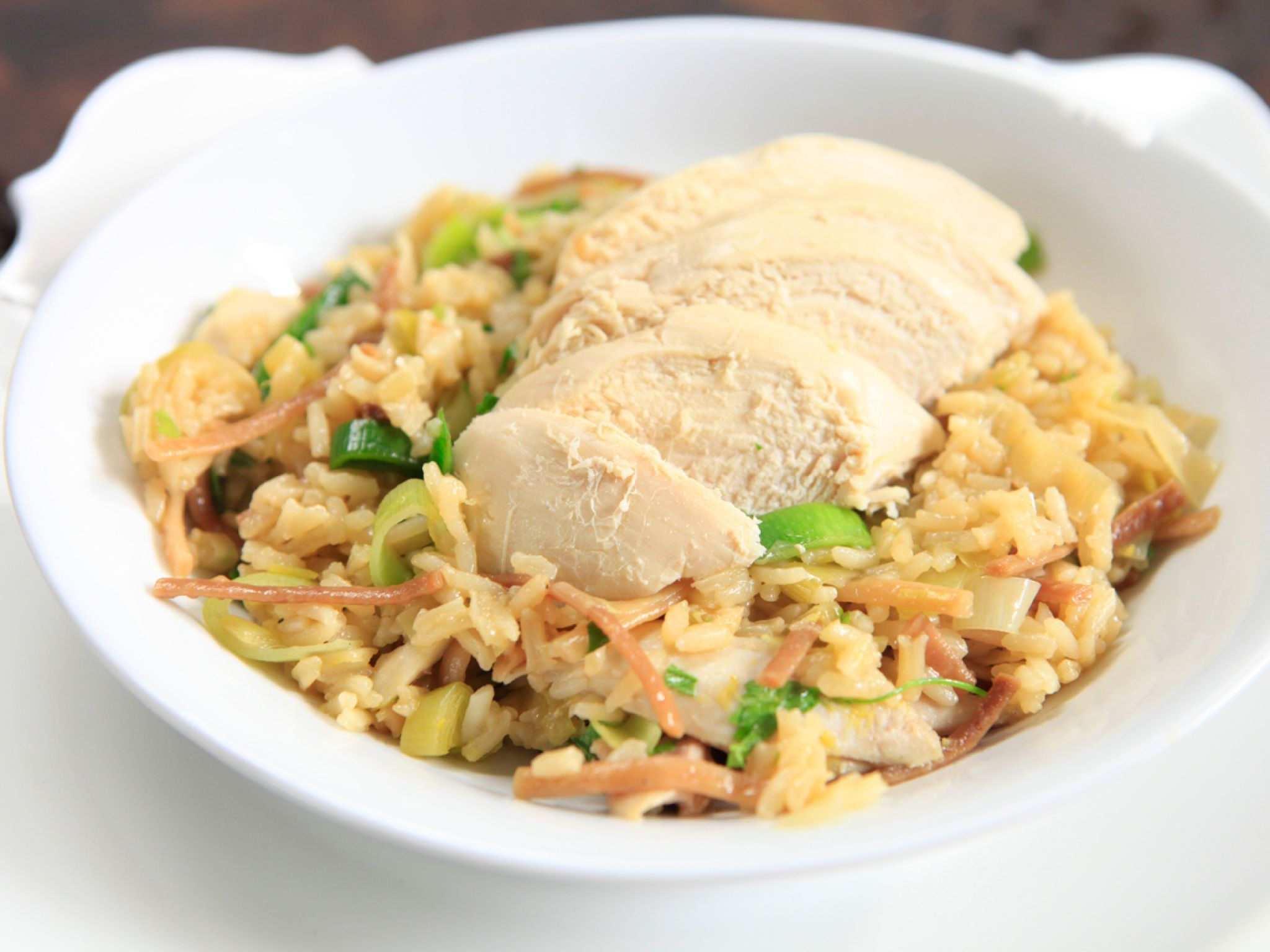 Lemon chicken and leek rice pilaf recept ris citronkyckling och lemon chicken and leek rice pilaf recipe from rachael ray via food network delicious forumfinder Images