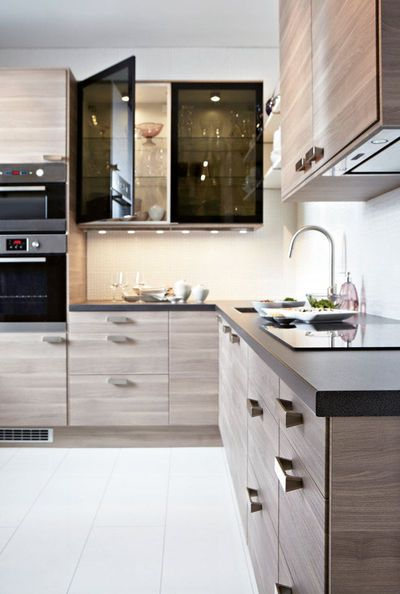 Cuisine Ikea Noyer Gris Clair Dizajn Interera Cuisine