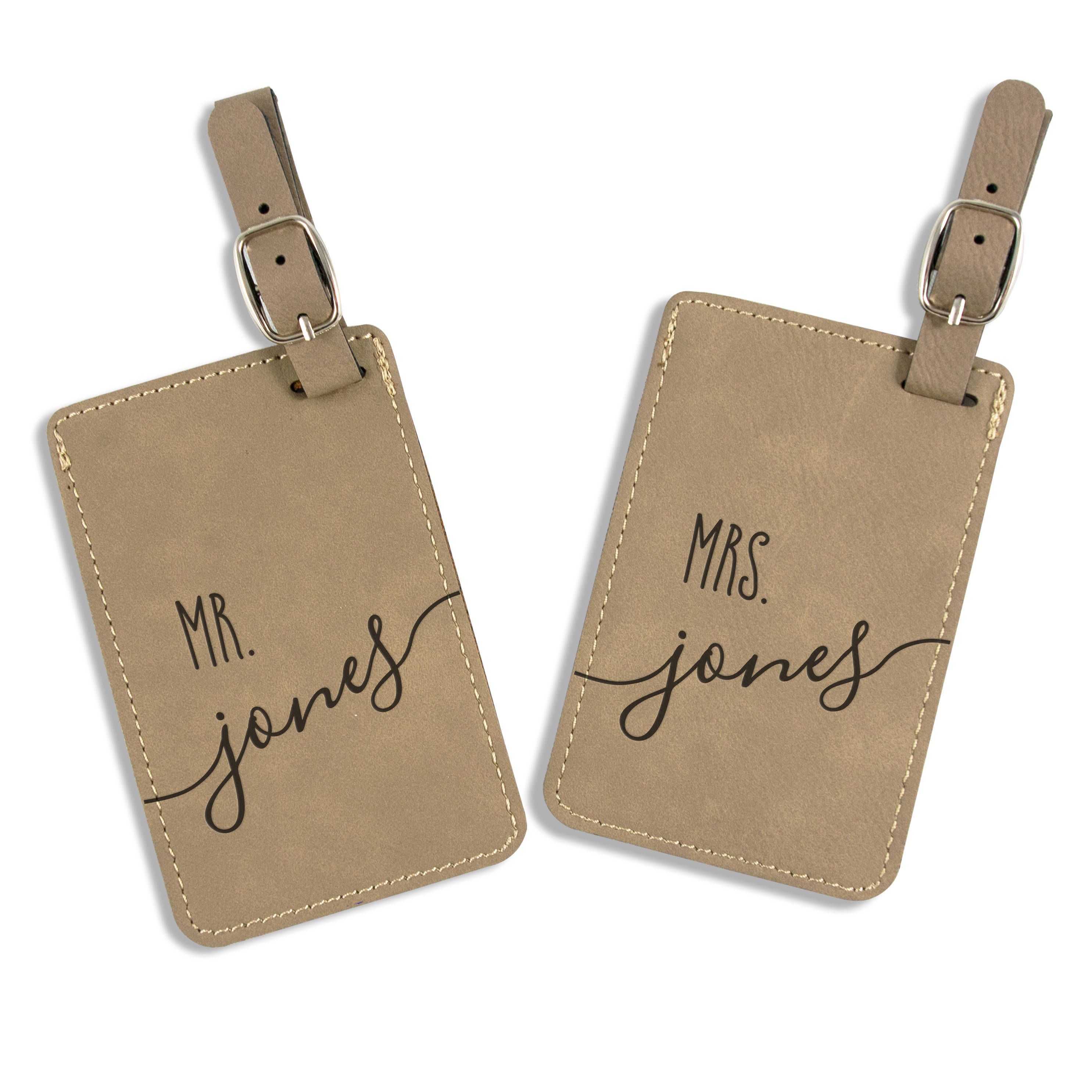 1cbbf0a8ce99 Wedding Gift - Personalized Luggage Tag - Leatherette Bag Tag ...