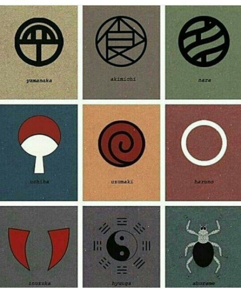 the clan symbols anime