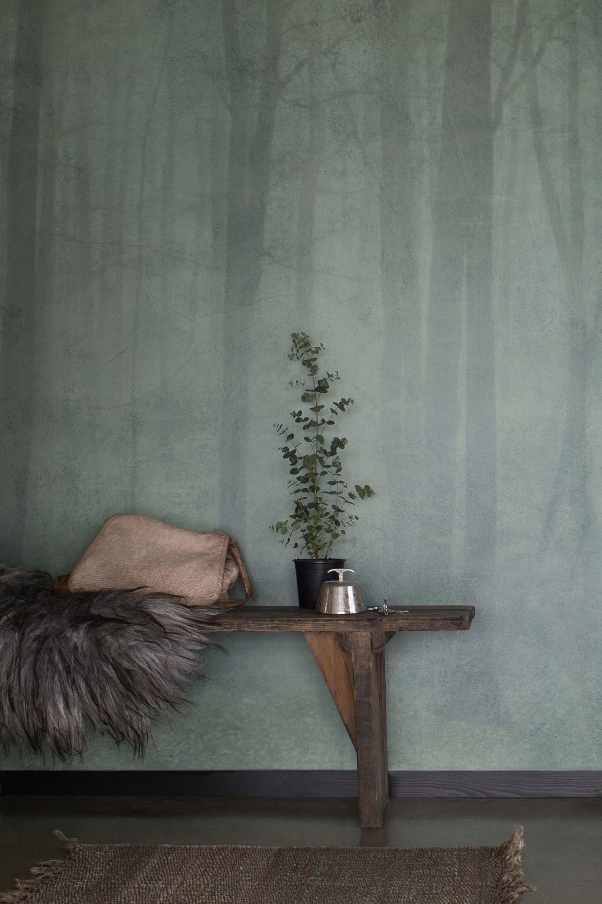 Bomen behang | Skog - Green van Sandberg Wallpaper #halinrichting