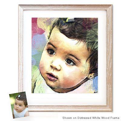 Watercolor Sketch™- personalized artwork pieces #art #gorgeous #baby #decor #home #portrait $359