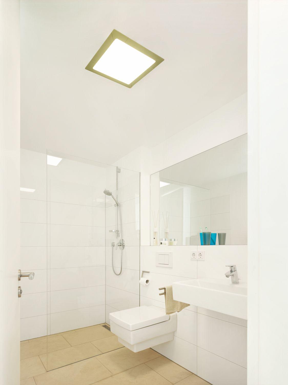 Gaste Bad Wc Mit Ca 3qm Wird Mit Einem Vave Led Panel 370370