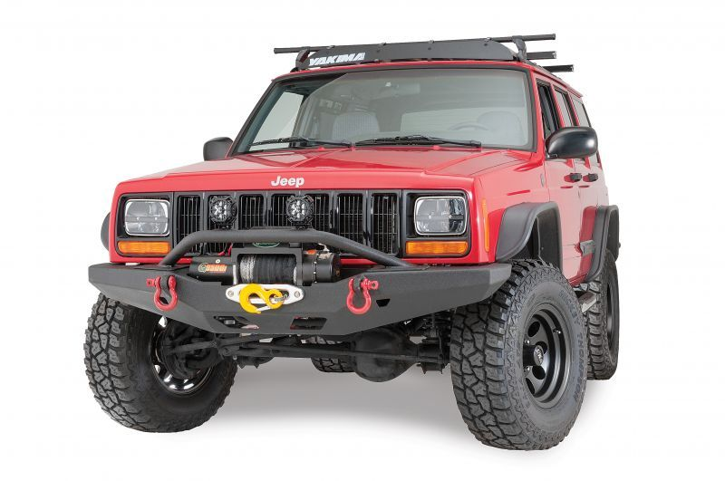Smittybilt Xrc Multi Optional Design M O D Front Bumper With Bull Bar Quadratec Q Series Self Recovery Winch For 84 01 Jeep Cherokee Xj X Trail