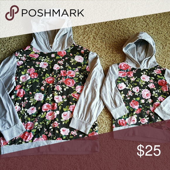 Mommy and Me Hoodies! Moms - size 9/12 fits like womens medium  Kids - size L (4/5) NWOT Thin, lightweight material for Spring. Price is for both! Jackets & Coats