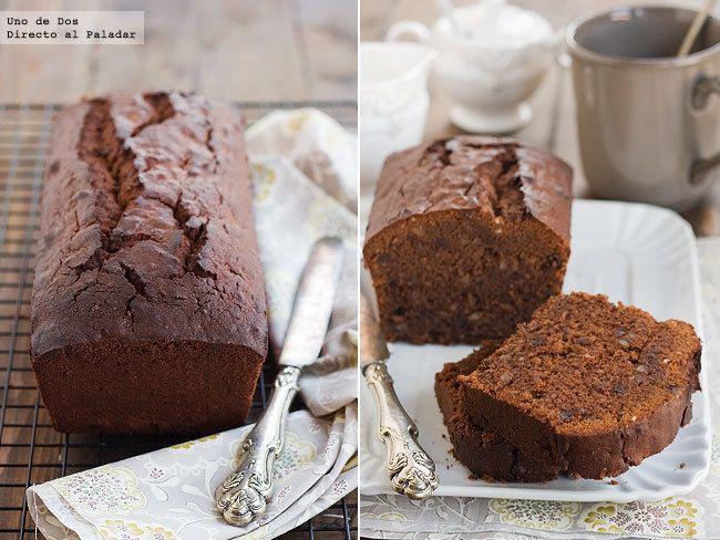 Receta de bizcocho de chocolate y almendras