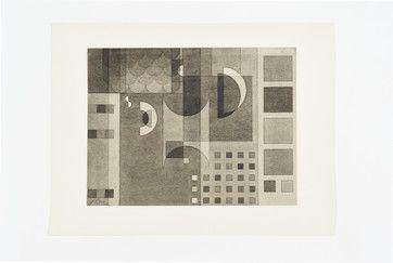 Hajo Rose, Flächen in Grau, Lithographie. GRASSI Museum
