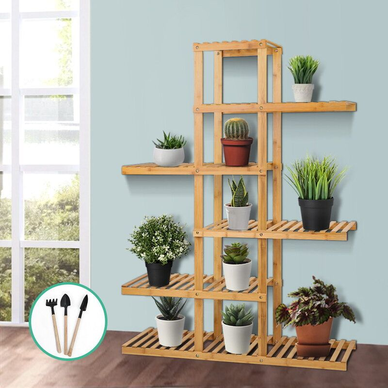 Bamboo Flower Pot Stand | Stay At Home Mum