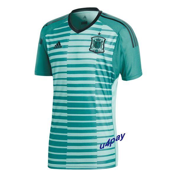 2018 FIFA World Cup Spain Home Goalkeeper Soccer Jersey