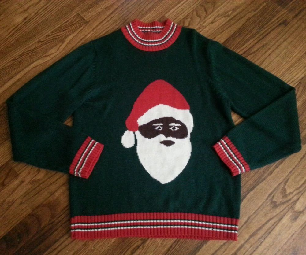 Mens Skedouche African American Black Santa Claus Ugly Christmas