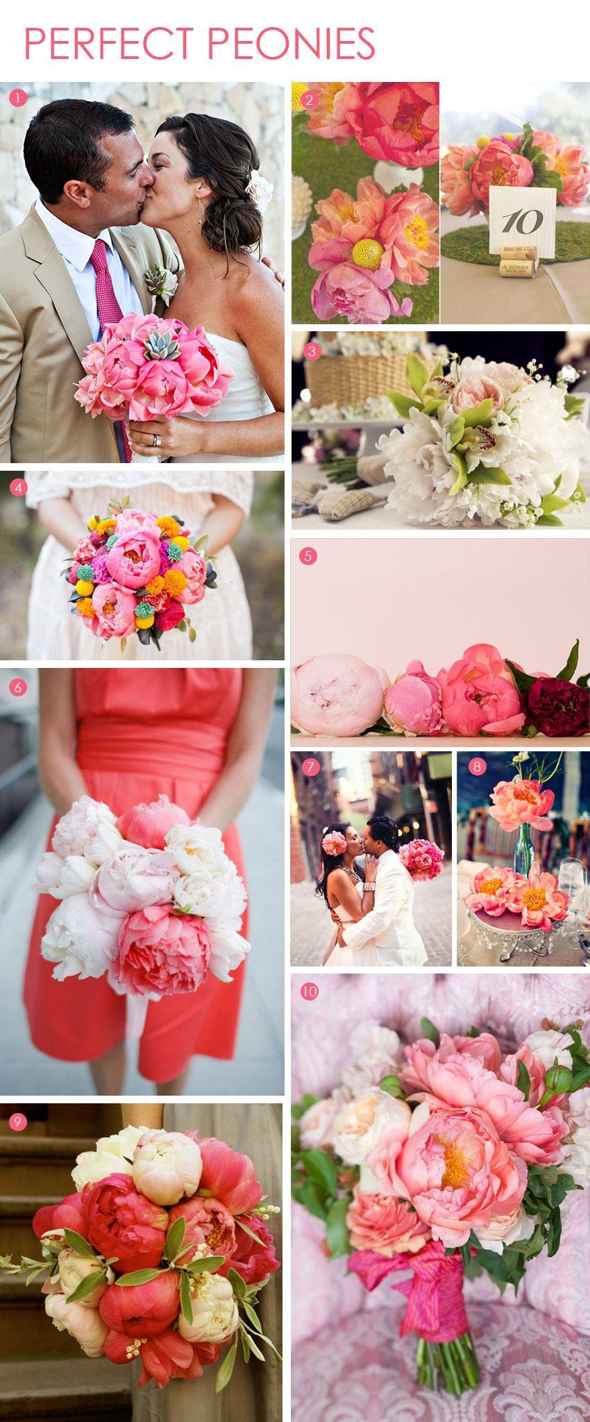Bouquet Bar Perfect Peonies Wedding flowers, Wedding