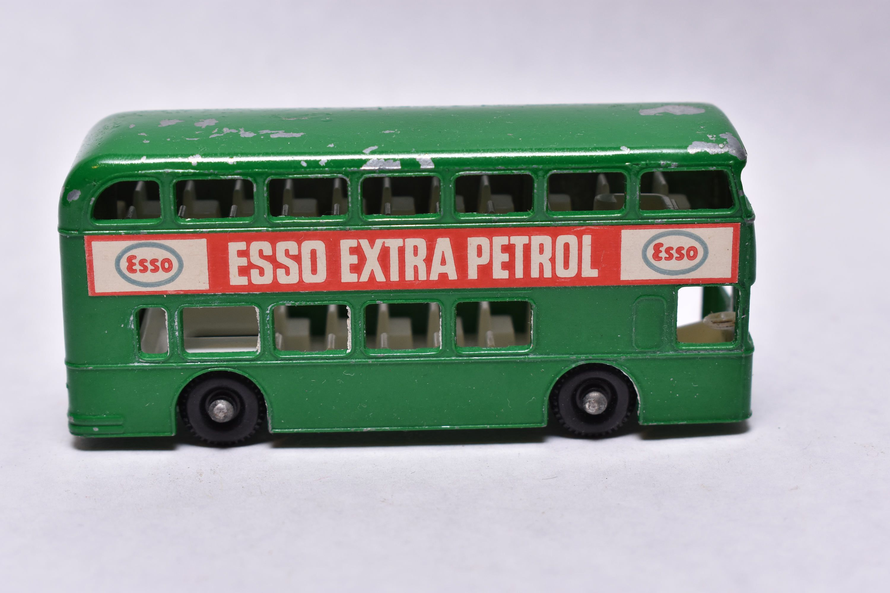 Matchbox Lesney No. 74 Daimler Bus, London Bus, Green ESSO Petrol, 1960's, made in England Original Vintage Die Cast Toy Car Collection by RememberWhenToys on Etsy