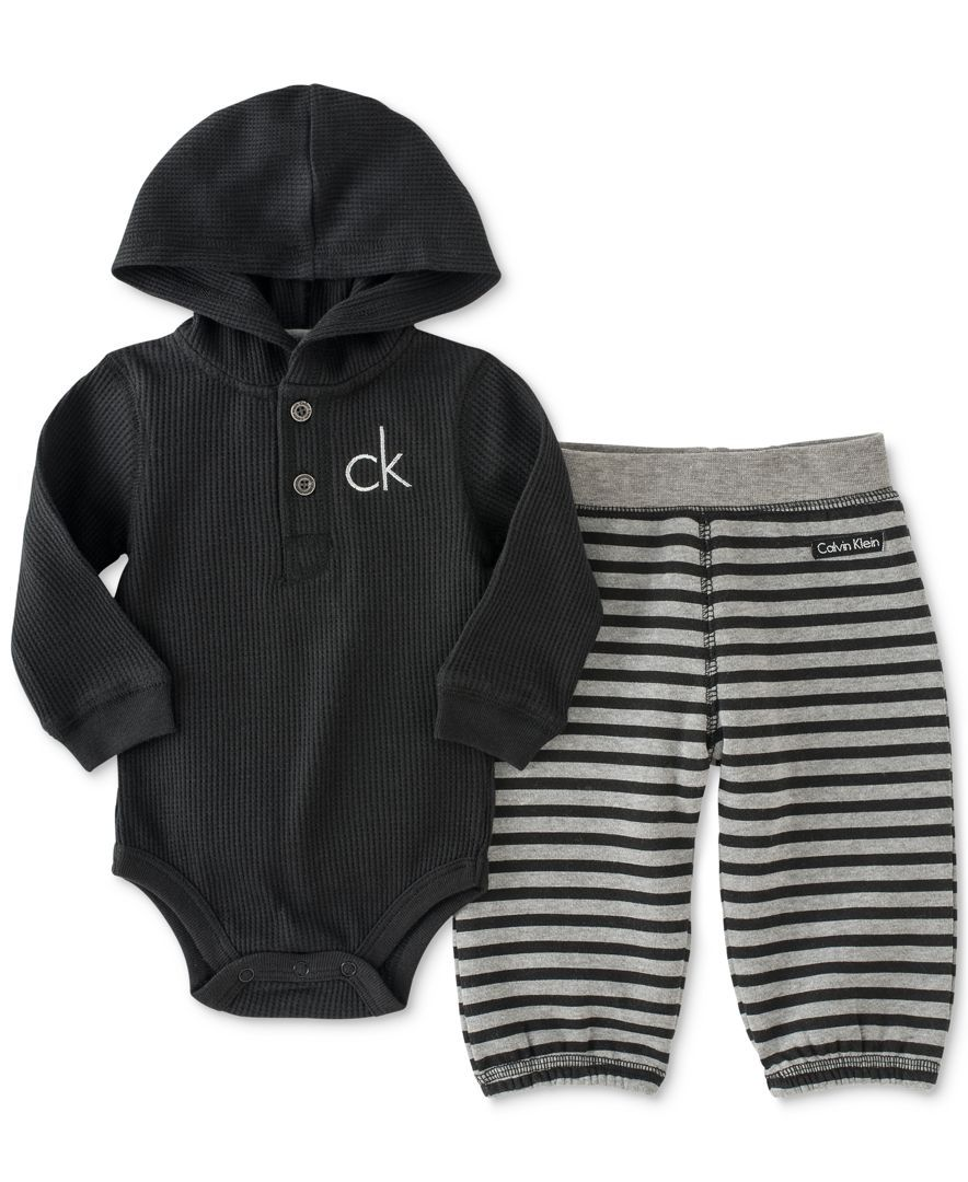 8abcfdb0e719 Calvin Klein Baby Boys  Thermal Bodysuit   Pants Set